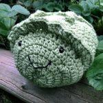 hand crocheted lettuce