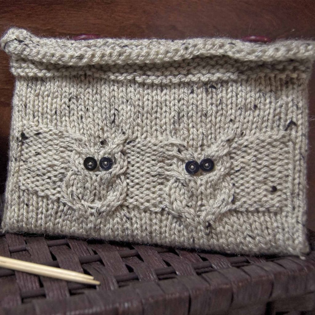 Knitted Owl Book Cover