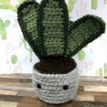 cactus amigurumi snake plant