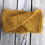 gold twisty headband