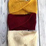 gold, marron and white twisty headband